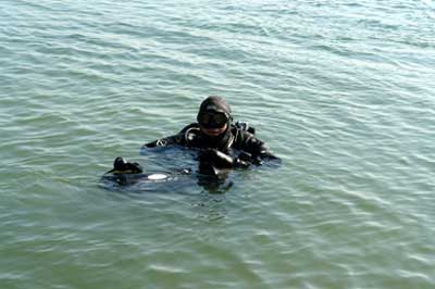 Endlich im Wasser