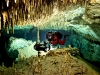 cave diver in Mexico, Yucatan