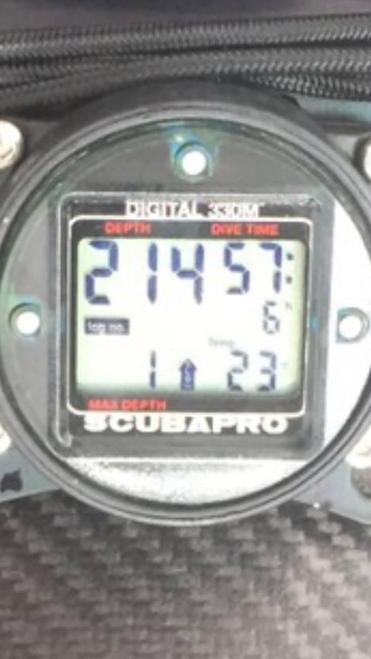 Die derzeitige Rekord-Tiefe für Bonex-Scooter. Erreicht von Simon Nadim.