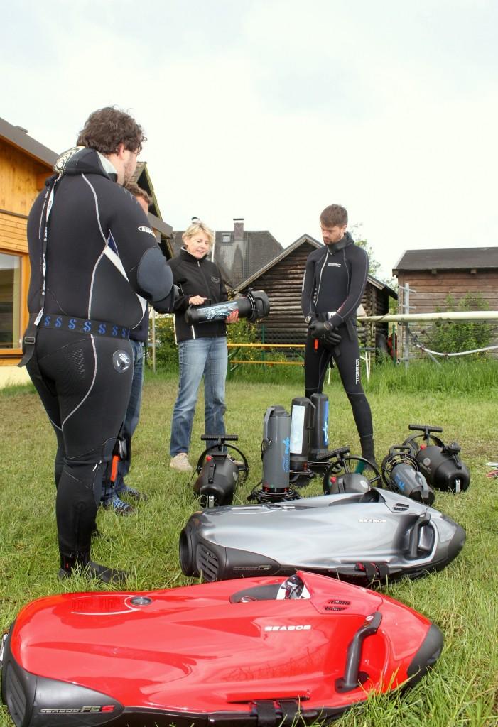 Scooter-Test am Attersee, Tauchen-Ausgabe Juli 2016