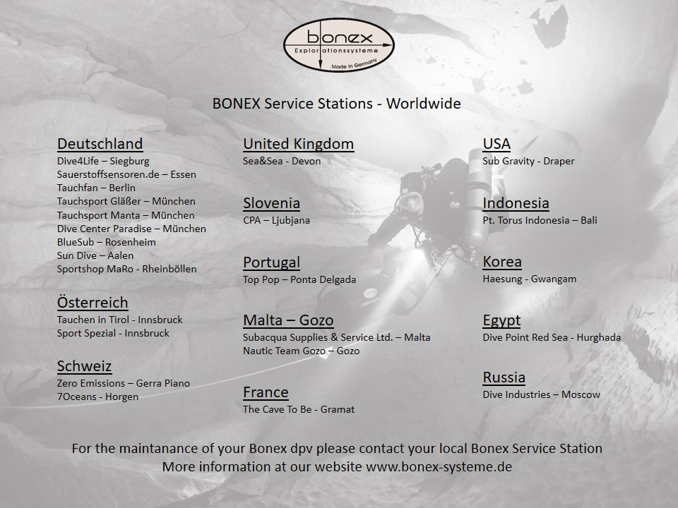 Bonex Service Stations Worldwide